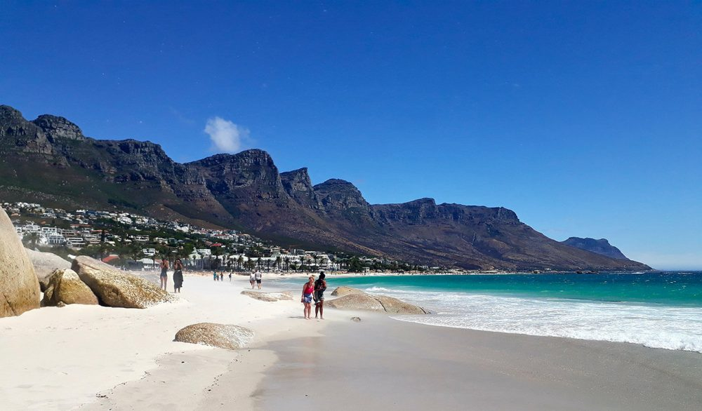 Camps Bay with the 12 Apostles Mountains.